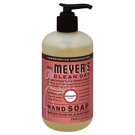Mrs. Meyers Clean Day Liquid Hand Soap Rosemary Scent 12.5 ounce bottle