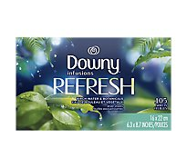 Downy Infusions Dryer Sheets Refresh Birch Water & Botanicals - 105 Count