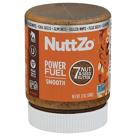 NuttZo Seven Nut & Seed Butter Smooth Power Fuel - 12 Oz