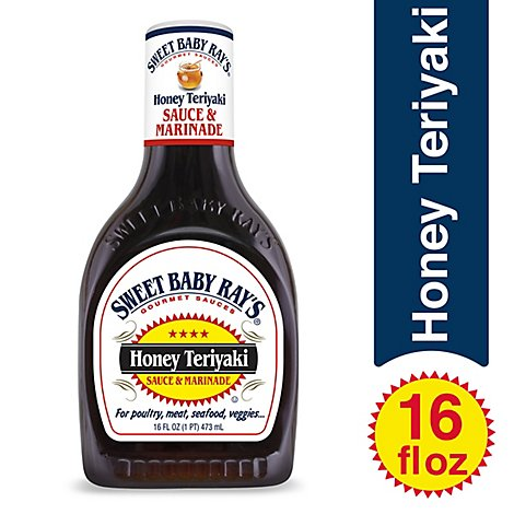 Sweet Baby Rays Sauce & Marinade Honey Teriyaki - 16 Fl. Oz.