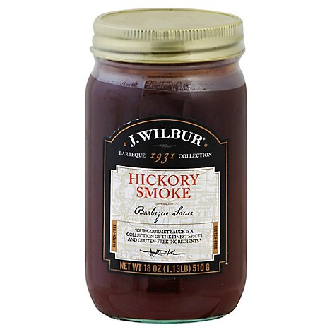 J Wilbur Sauce Barbeque Hickory Smoke - 18 Oz