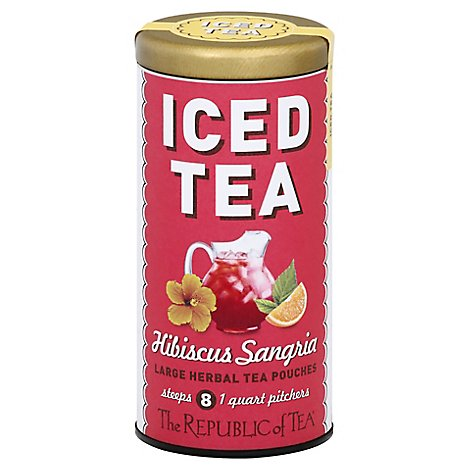 The Republic Of Tea Herbal Tea Iced Hibiscus Sangria - 8 Count