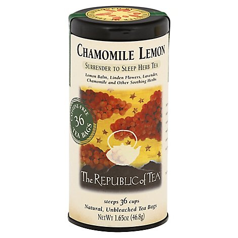The Republic Of Tea Herbal Tea Chamomile Lemon - 36 Count