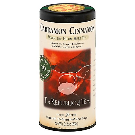 The Republic Of Tea Herbal Tea Cardamon Cinnamon - 36 Count