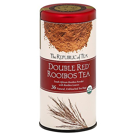 The Republic Of Tea Double Red Tea Organic Rooibos - 36 Count