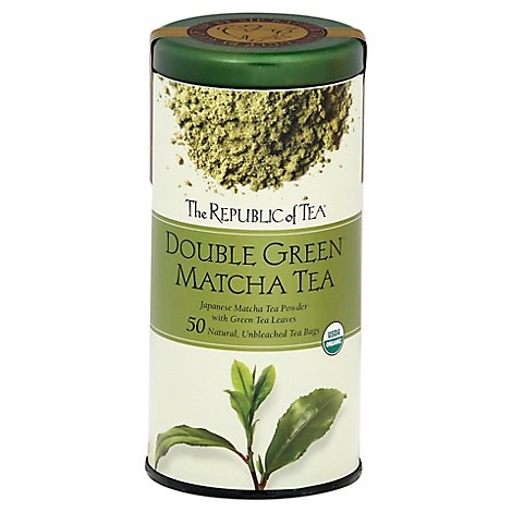 The Republic Of Tea Double Green Tea Organic Matcha - 50 Count