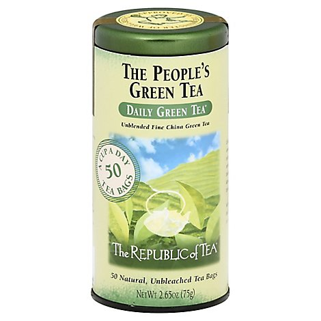 The Republic Of Tea Green Tea Bags The Peoples Green Tea 50 Count - 2.65 Oz