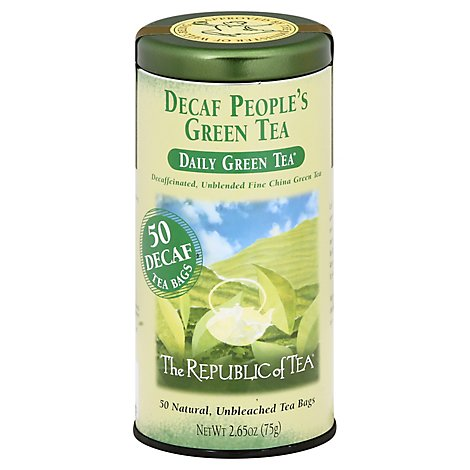 The Republic of Tea Green Tea Bags Decaf Peoples Daily - 50 Count