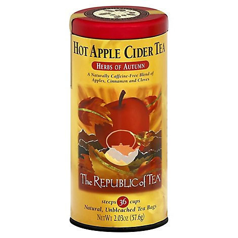 The Republic Of Tea Herb Tea Hot Apple Cider - 36 Count