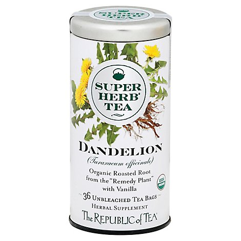The Republic of Tea SuperHerb Tea Bags Dandelion - 36 Count