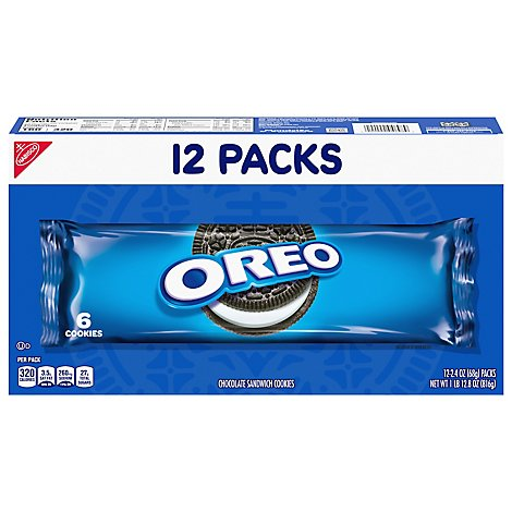 Oreo Sandwich Cookies Chocolate - 6 Count