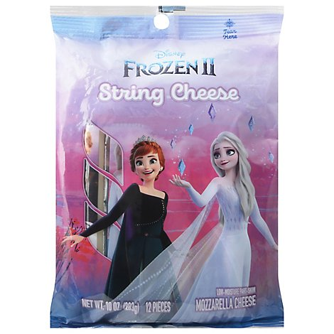 Schreiber Cheese Mozzarella Low-Moisture Part-Skim String Disney Frozen 12 Count - 10 Oz