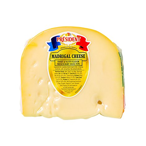 Madrigal French Swiss Cheese Pre Weighed 0.50 LB