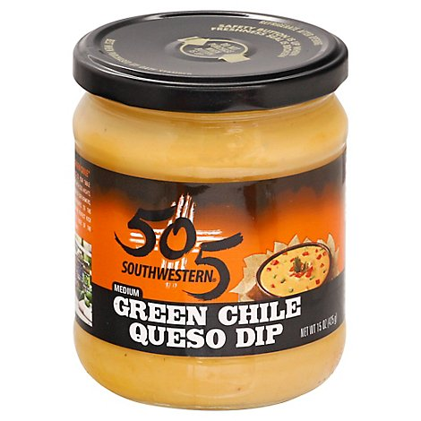 505 Southwestern Green Chile Medium Queso Dip Jar - 15 Oz