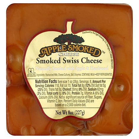 Apple Smoked Swiss Cheese - 8 Oz