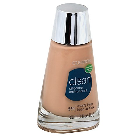 COVERGIRL Clean Liquid Foundation Oil Control Creamy Beige 550 - 1 Fl. Oz.
