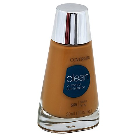 COVERGIRL Clean Liquid Foundation Oil Control Tawny 565 - 1 Fl. Oz.