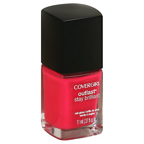 COVERGIRL Outlast Stay Brilliant Nail Gloss Tickled Pink 165 - 0.37 Fl. Oz.