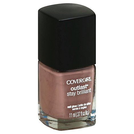COVERGIRL Outlast Stay Brilliant Nail Gloss Smokey Taupe 215 - 0.37 Fl. Oz.
