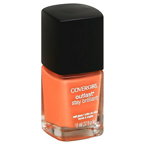 COVERGIRL Outlast Stay Brilliant Nail Gloss Coral Silk 240 - 0.37 Fl. Oz.
