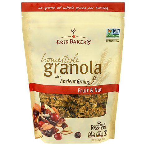 Erin Bakers Granola Homestyle Fruit & Nut - 12 Oz