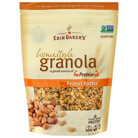 Erin Bakers Granola Homestyle Peanut Butter - 12 Oz