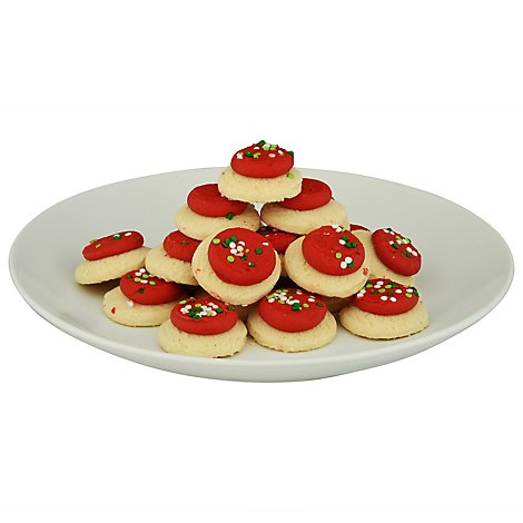 Bakery Cookies Frosted Sugar Red Mini - 10.5 Oz