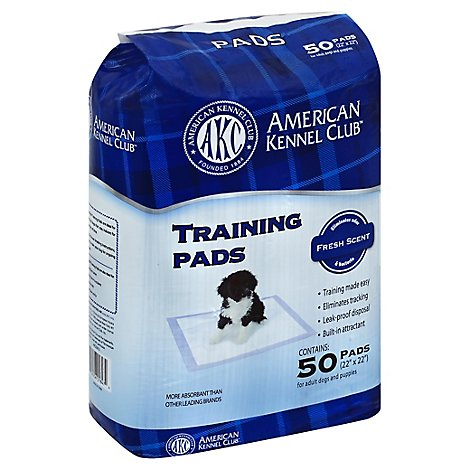 American Kennel Club Training Pads Fresh Scent Wrapper - 50 Count