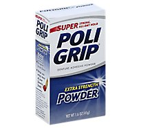Super Poligrip Denture Adhesive Powder Super Strong All-Day Hold Extra Strenght Powder - 1.6 Oz