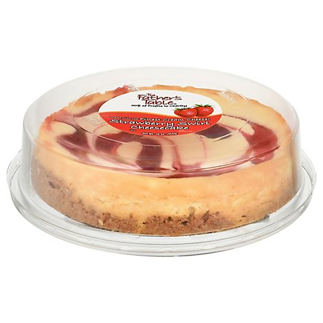 Fathers Table Cake Cheesecake Strawberry - 16 Oz