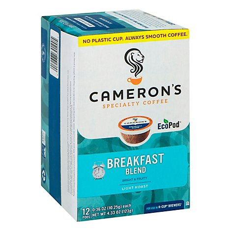 Camerons Coffee EcoPod Light Roast Breakfast Blend 12 Count - 4.33 Oz