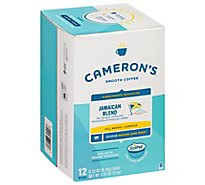 Camerons Coffee Handcrafted Single Serve Filtered Jamaican Blue Mountain Blend - 12 Count