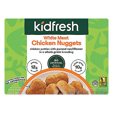 Kidfresh Chicken Nuggets White Meat - 6.7 Oz