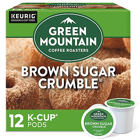 Green Mountain Coffee K Cup Pods Medium Roast Brown Sugar Crumble- 12-0.34 Oz