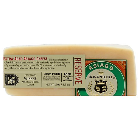 Sartori Extra Aged Asiago Cheese Wedge - 5.3 Oz.