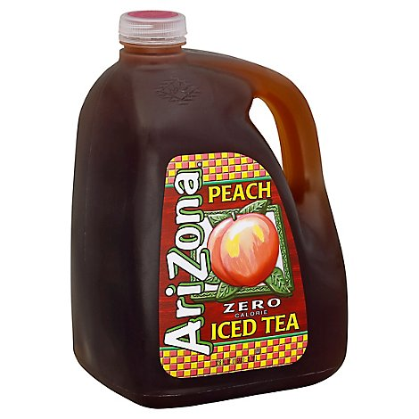 AriZona Iced Tea Peach Zero Calorie - 128 Fl. Oz.