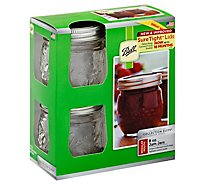 Ball Collection Elite Design Series Jam Jars Regular Mouth - 4 Count
