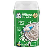Gerber Org Rice Cereal - 8.0 Z
