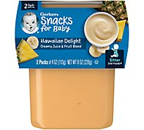 Gerber 2nd Foods Baby Food Sitter Creamy Juice & Fruit Blend Hawaiian Delight - 2-4 Oz