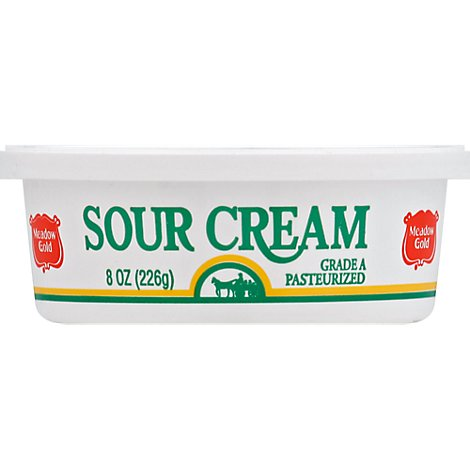 Meadow Gold Sour Cream All Natural- 8 Oz
