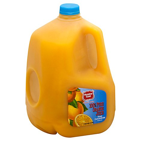 Meadow Gold 100% Orange Juice Chilled - 128 Fl. Oz.