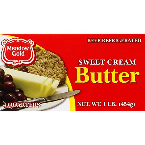 Meadow Gold Butter Quarters - 16 Oz