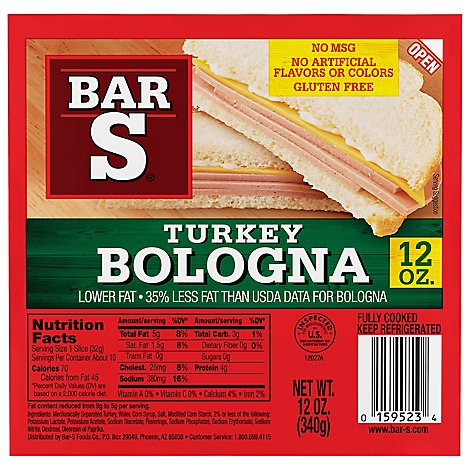 Bar-S Bologna Turkey - 12 Oz
