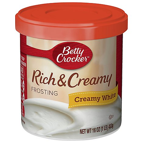 Betty Crocker Rich & Creamy Frosting Creamy White - 16 Oz
