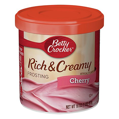 Betty Crocker Rich & Creamy Frosting Cherry - 16 Oz
