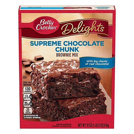 Betty Crocker Brownie Mix Premium Chocolate Chunk with Hersheys - 18 Oz