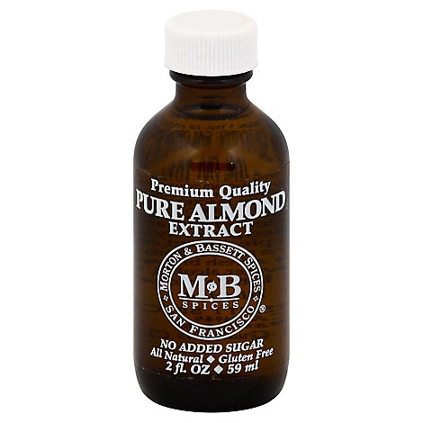 Morton & Bassett Extract Pure Almond - 2 Fl. Oz.