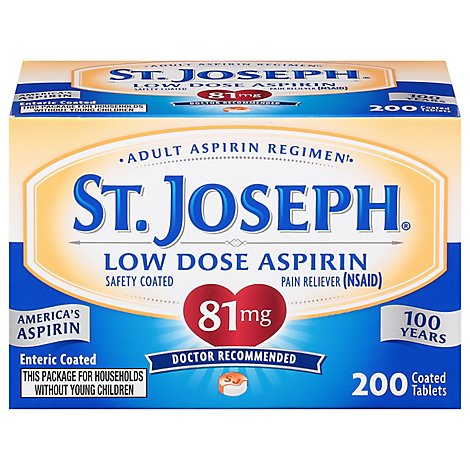 St Joseph Enteric Aspirin Safety Coated - 200 Count