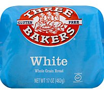 Three Bakers Bread Whole Grain Gluten Free White - 17 Oz