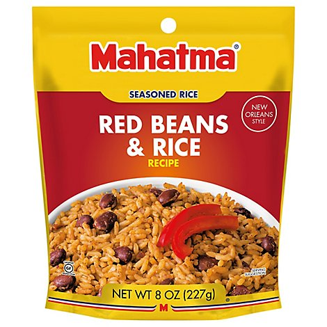 Mahatma Rice Long Grain Red Beans With Seasoning Gluten Free Pouch - 8 Oz